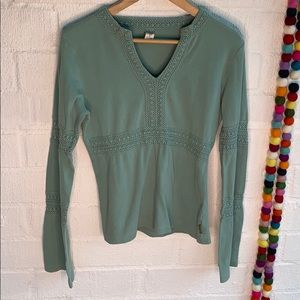 Prana Organic Cotton Boho Long Sleeve sz XL
